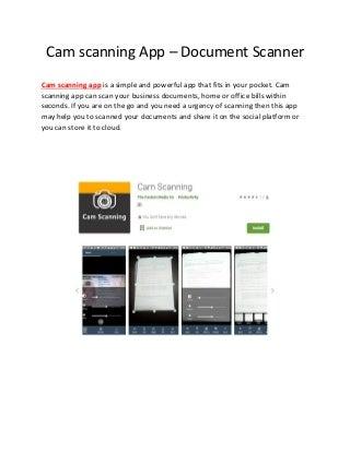 Cam scanning App - Document Scanner