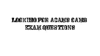Cams Exam Dumps