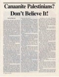 Canaanite Palestinians? Dont Believe It! -  Prophecy in the News Magazine -  Feb 1998
