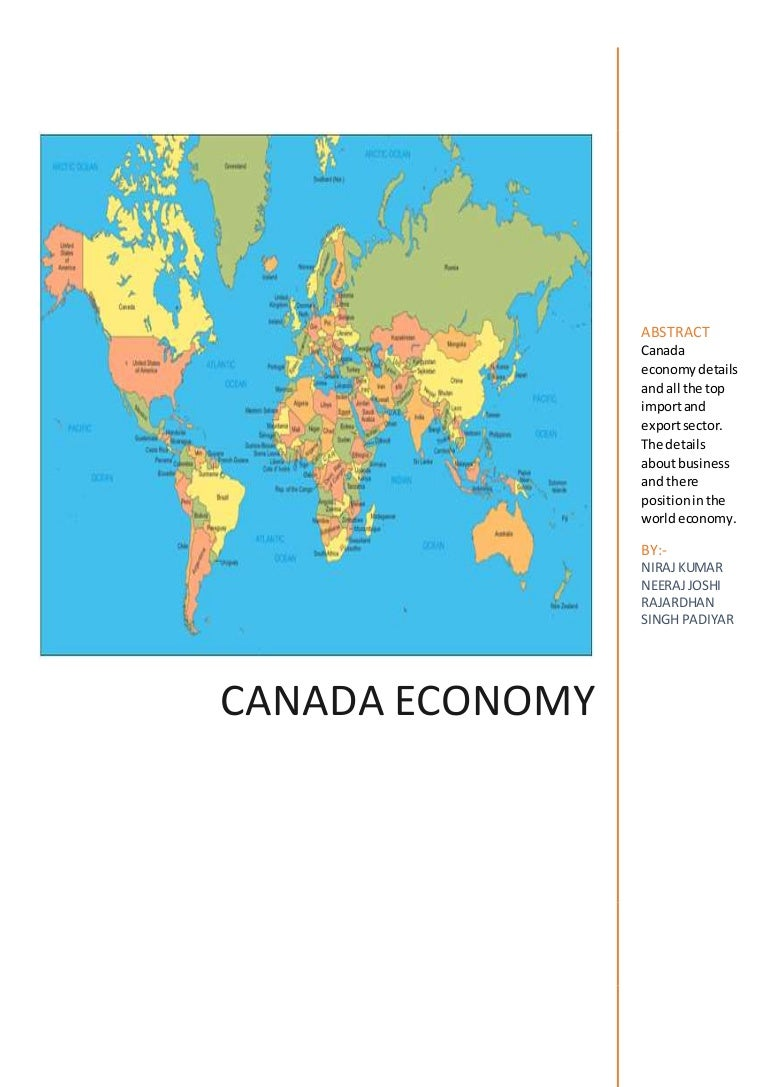 Economic and geographical position of Canada according to plan. Help me please