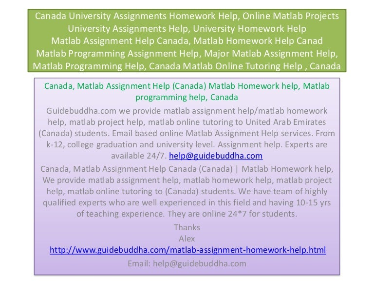 Homework help canada