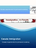 Canada requirements for permanent residency