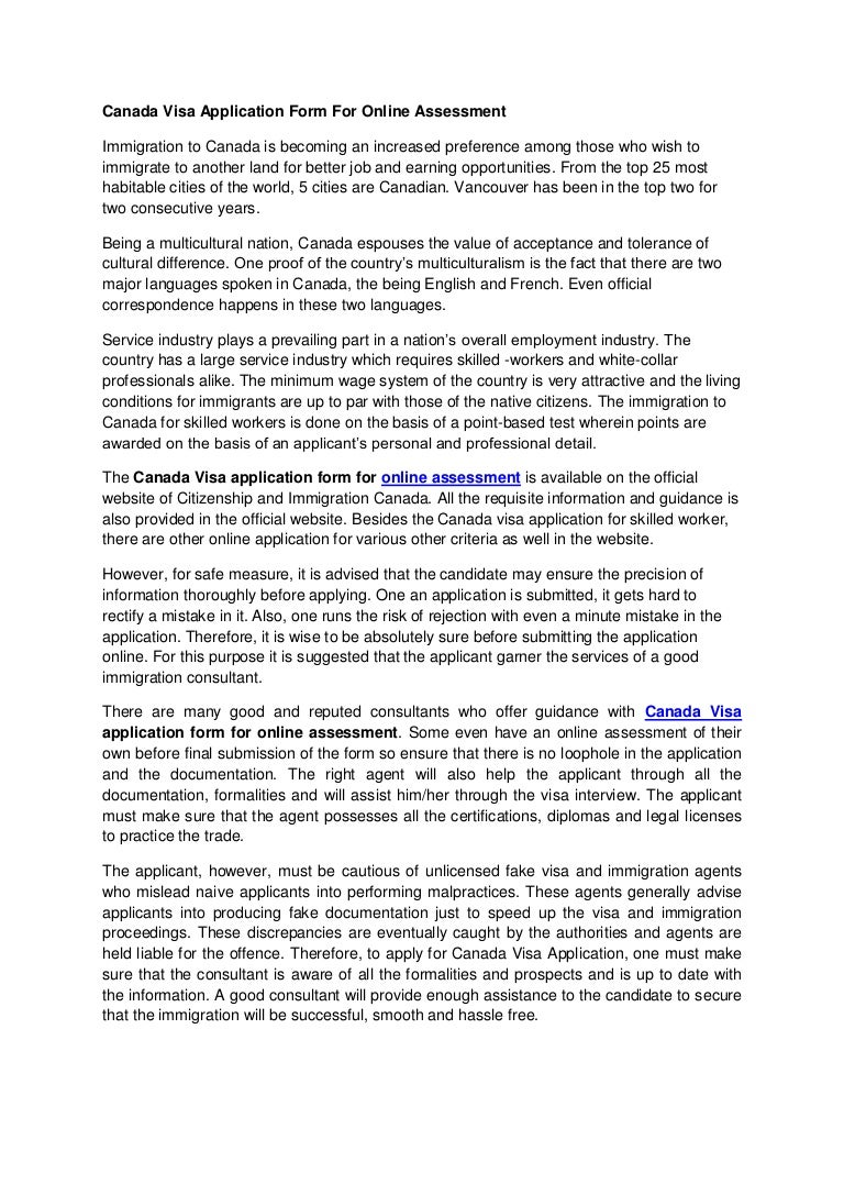 Canada visa application form for online assessment seo-vinod-