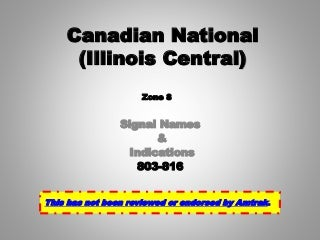Canadian National cn [illinois central] zone 8 (2015)