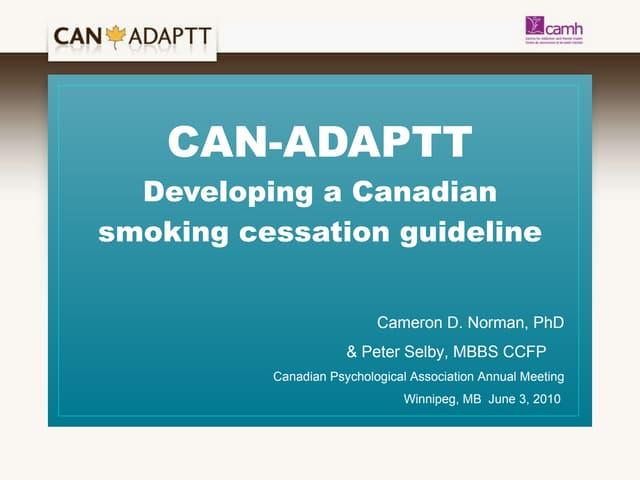 Canadian Psychological Association For Cameron Norman