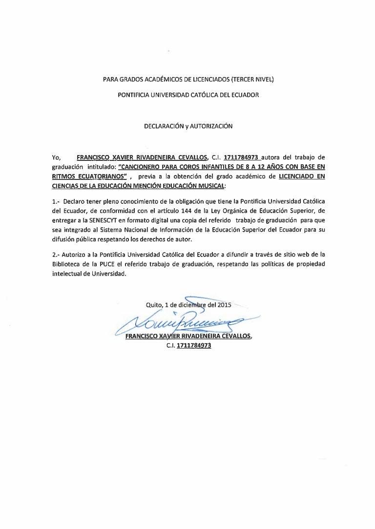 Cancionero Infantil En Base A Ritmos Ecuatorianos