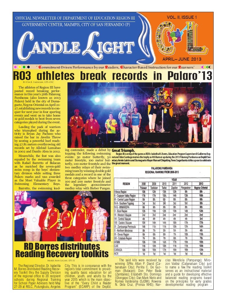candlelight   the official publication of deped region iii