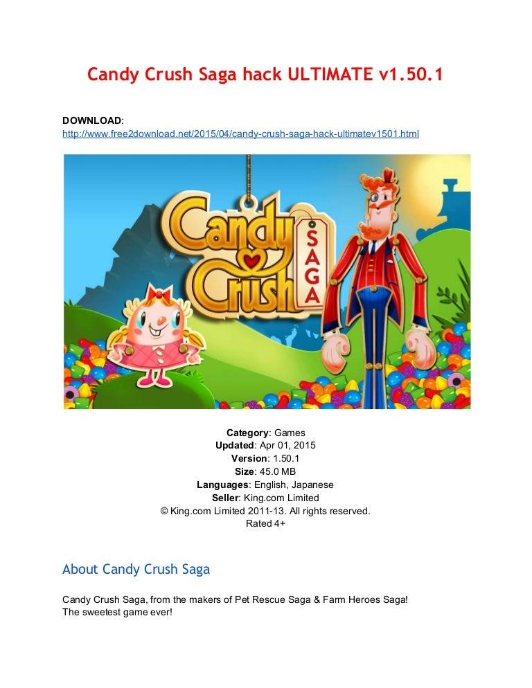 candy crush saga hack download