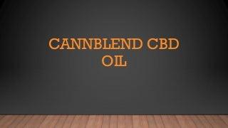 Cannablend cbd oil