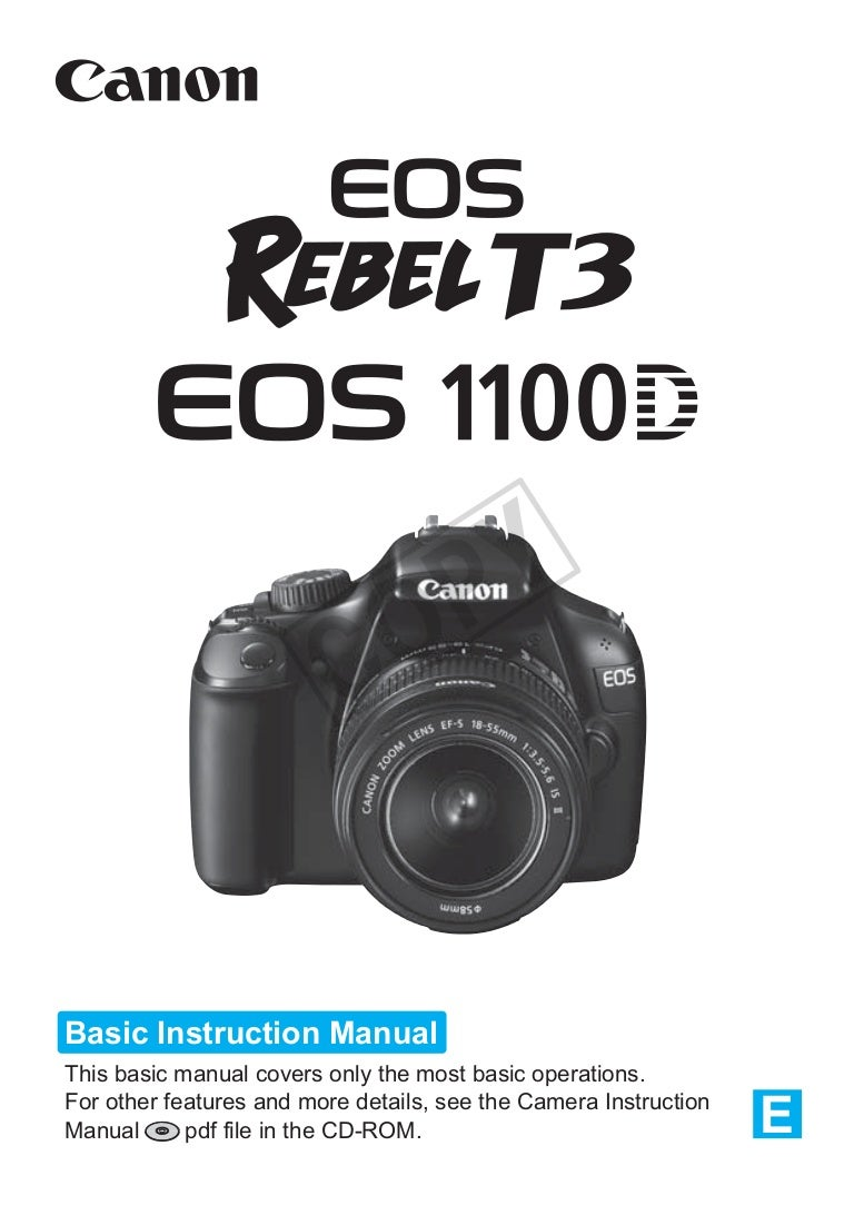 canon eos 1100d manual rh slideshare net eos rebel t3 camera instruction manual canon rebel t3i camera instruction manual