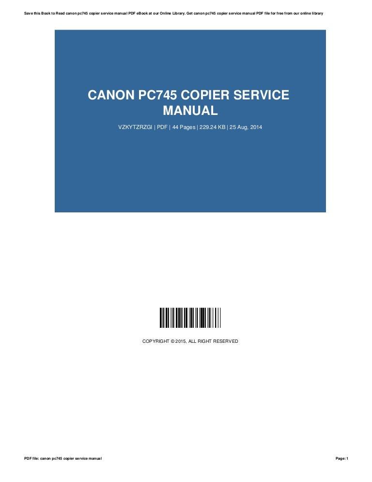 canon pc745 copier service manual rh slideshare net Canon Printer Manuals PDF Canon Copy Machine Manual