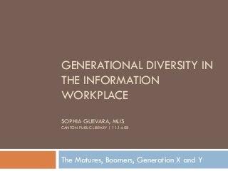 Generational Diversity (Canton Library Presentation)