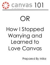 Canvas 101 packet