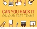 Can you hack it on our Test Team?
