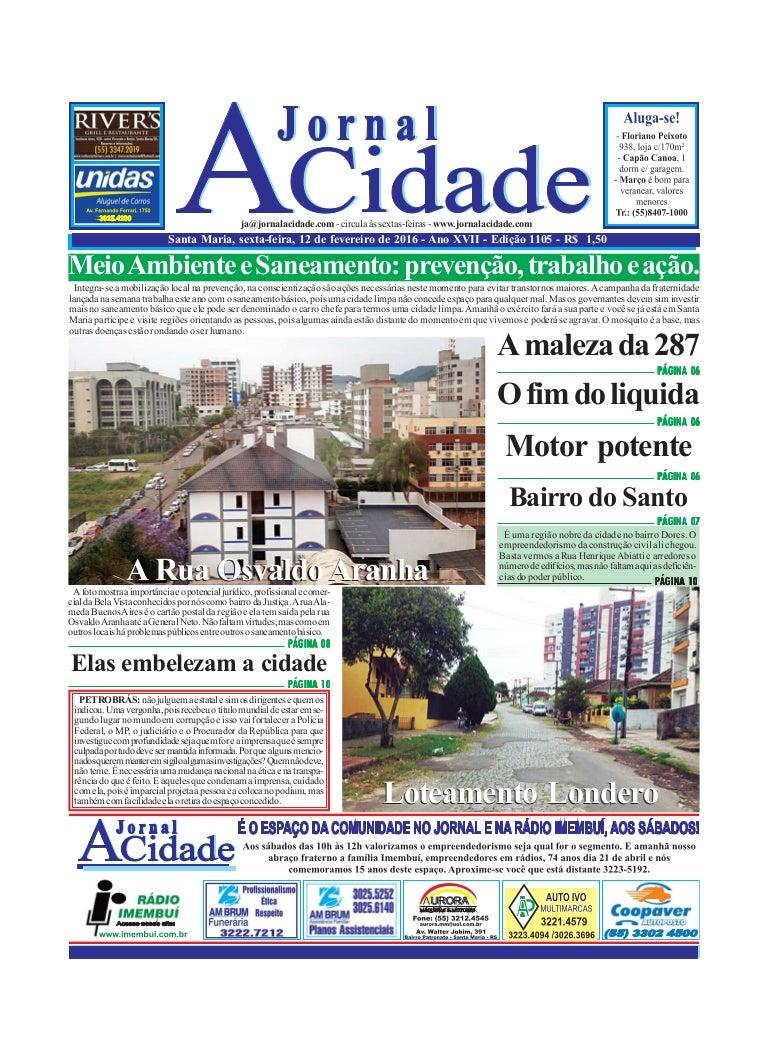 Jornal A Cidade Edição Digital Completa. Edição n. 1105 que
