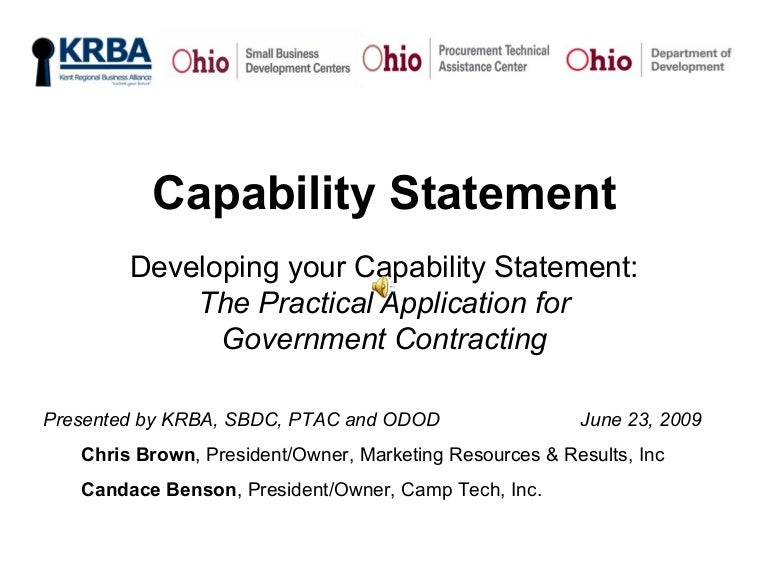 Capability statement capabilitystatement 090624143027 phpapp02 thumbnail 4gcb1245854376 wajeb Choice Image