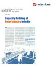 Capacity building-of-solar-industry-in-india