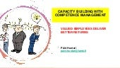 Capacity building with competence management