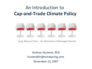 Cap-and-trade through musical chairs: Full presentation