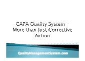 Capa quality system – more than just corrective action