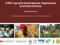 LIVES Capacity Development approaches and interventions