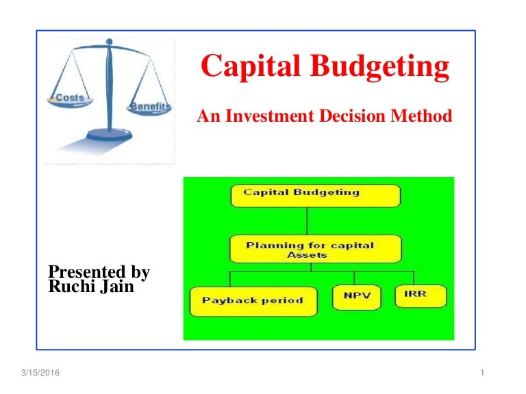 Capital budgeting ppt.