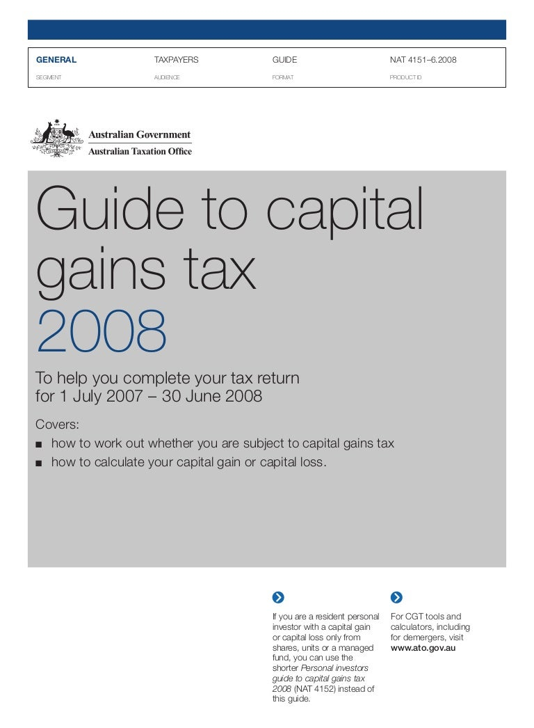 Capital gains tax ATO