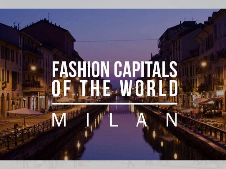 Fashion capitals of the world ppt 95