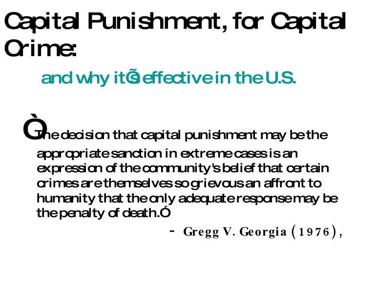 essay about capital punishment