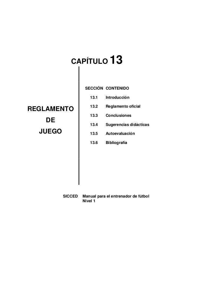 REGLAMENTO DE JUEGO