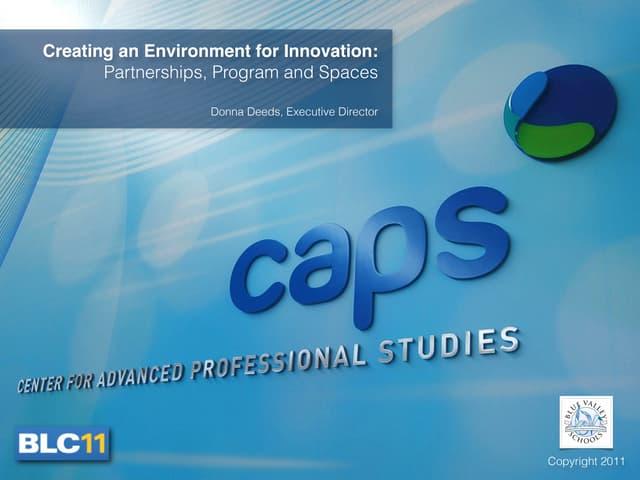 BLC11: CAPS presentation for Donna Deeds
