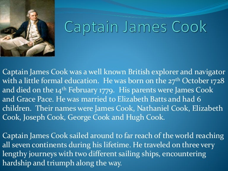 captain james cook summary Summary and conclusion 68 bibliography 72 page 7 1 captain james  cook's third and final world voyage in 1776 brought a wealth of controversial.