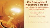 Car Development Procedure & Process