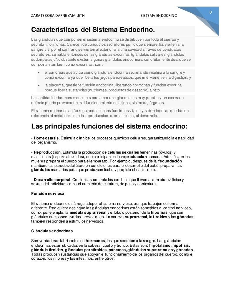 Características del sistema endocrino