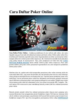 Bisakah Anda Baca Tells Poker Online?