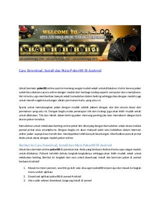 cara main mesin slot casino