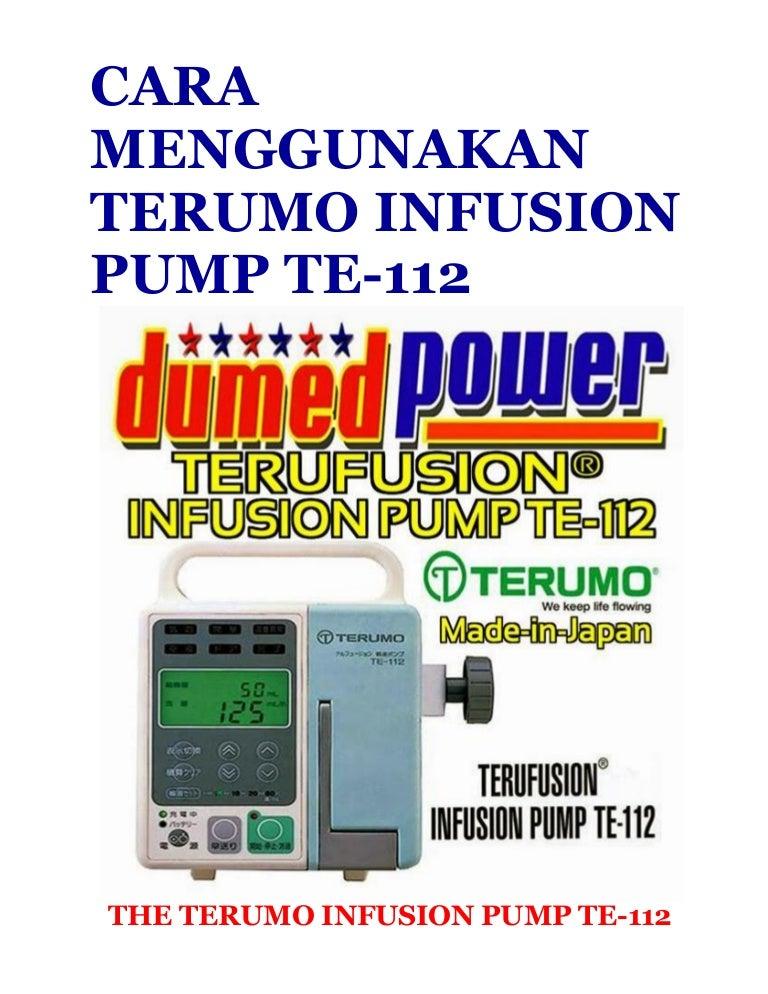 Cara menggunakan syringe pump,menggunakan terumo infusion pump te 112