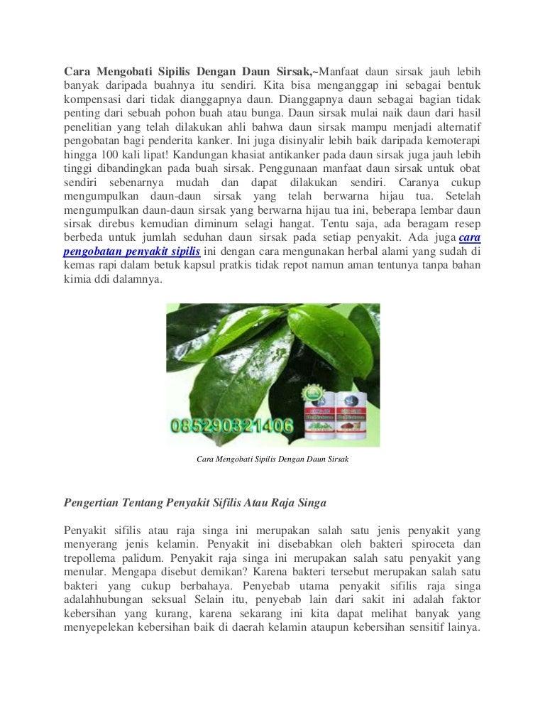 Cara mengobati sipilis dengan daun sirsak