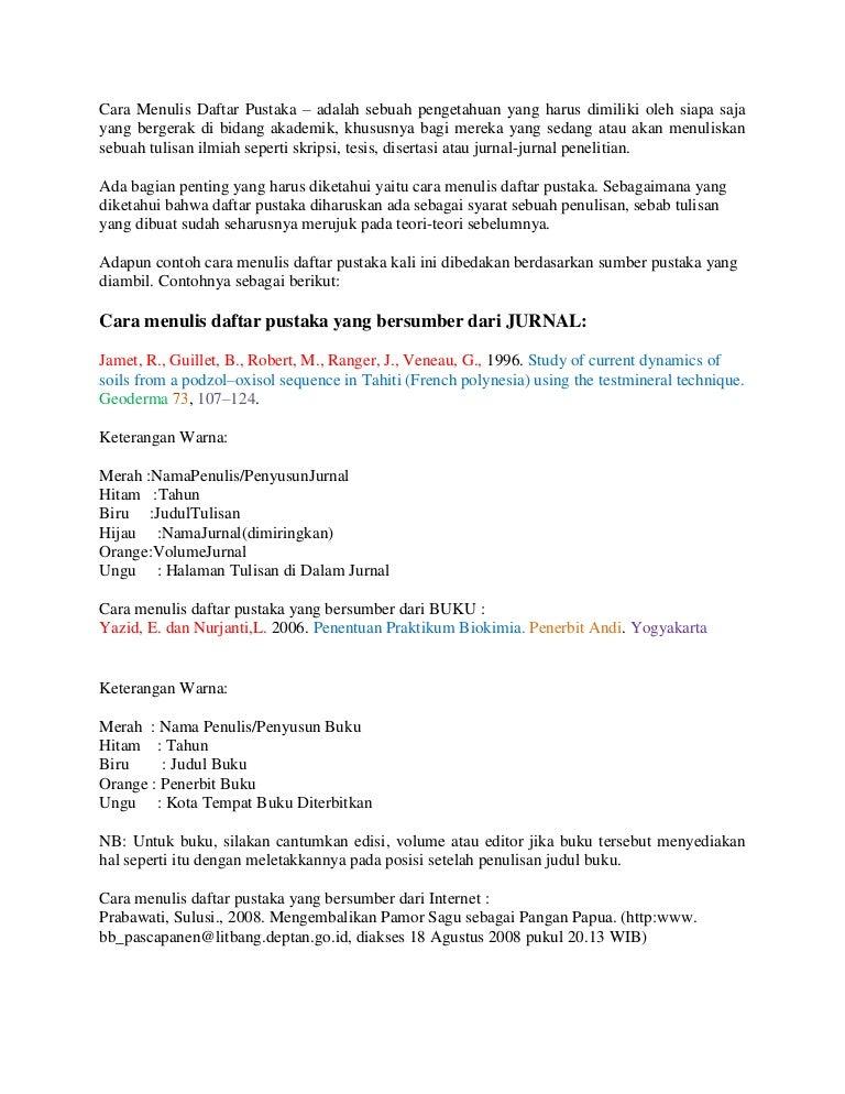 Cara Menulis Daftar Pustaka Sumber Dari Internet Realtimestaff