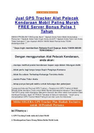 Penjual GPS Pelacak Mobil di Bandung Recomeded !