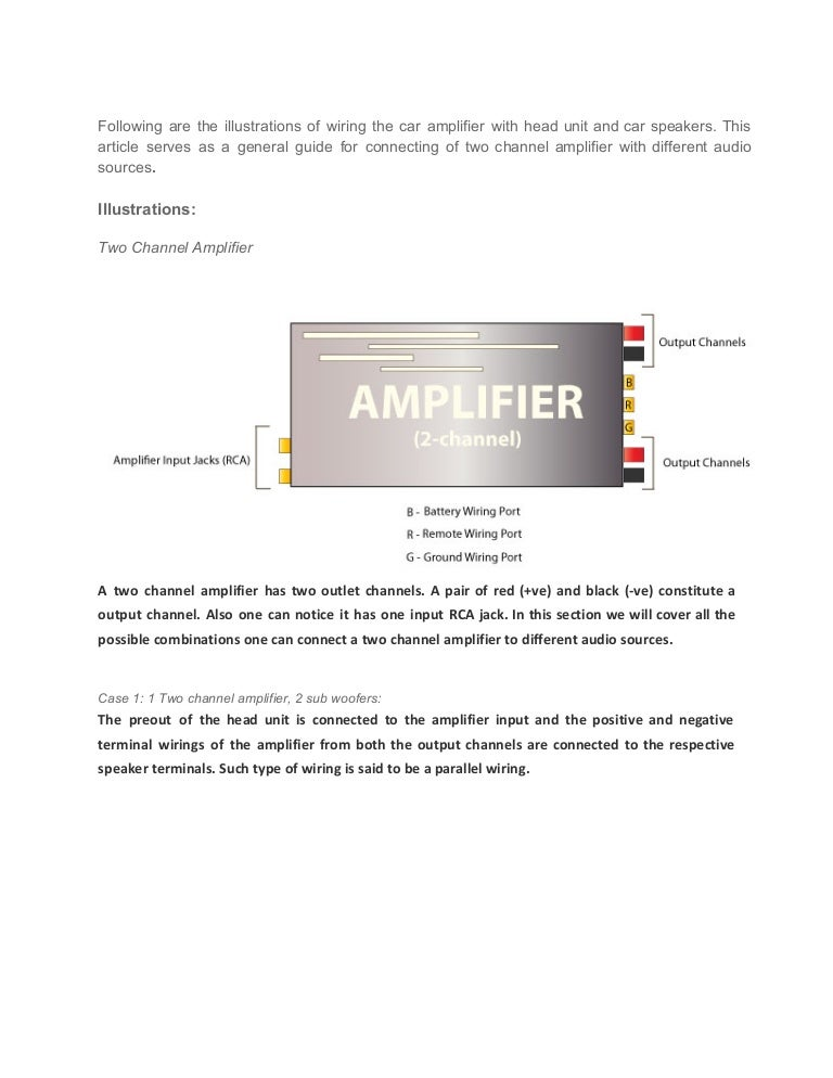 car audio guide how to connect a channel amplifier