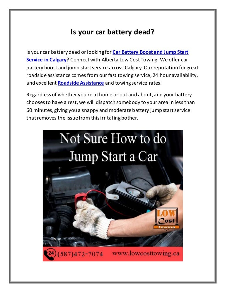 Car Battery Boost And Jump Start Service In Calgary