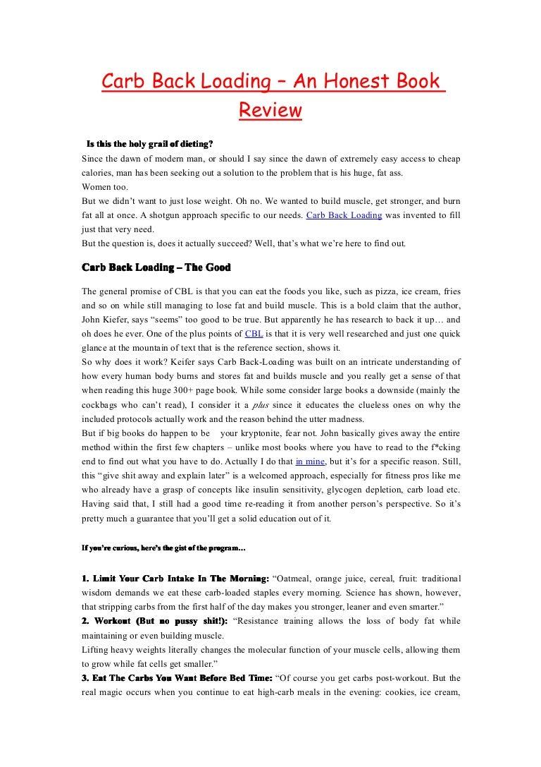 John Kiefer Carb Backloading Book Pdf Download
