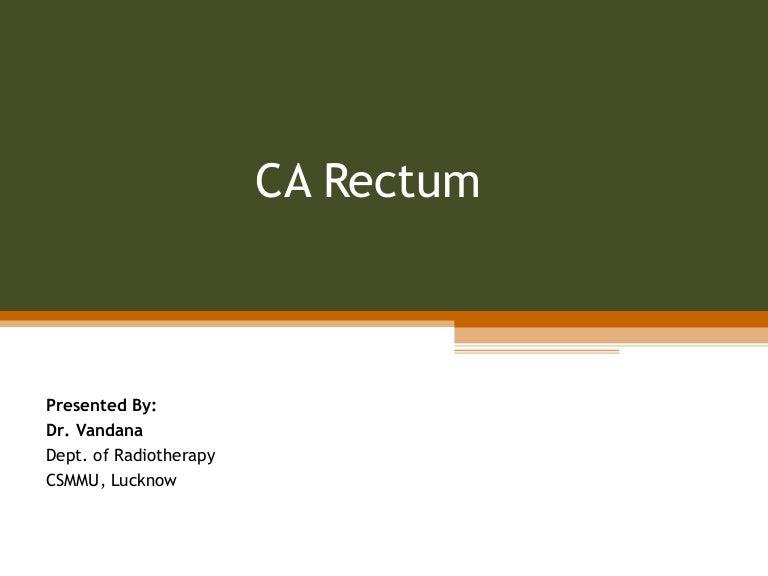 Carcinoma Rectum Rectal Cancer