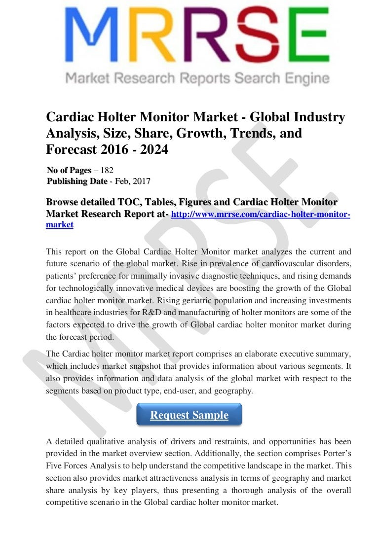 Cardiac Holter Monitor Market - Global Industry Analysis, Size, Share…