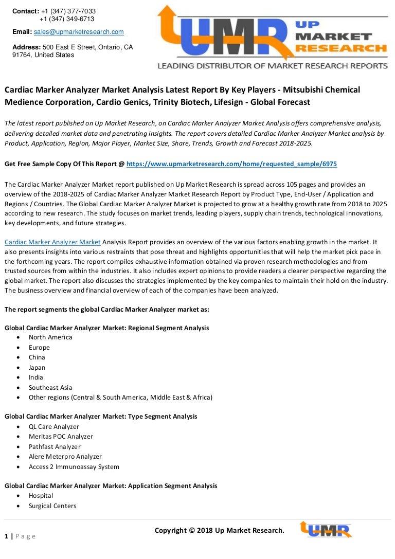 Cardiac marker analyzer market analysis latest report by key