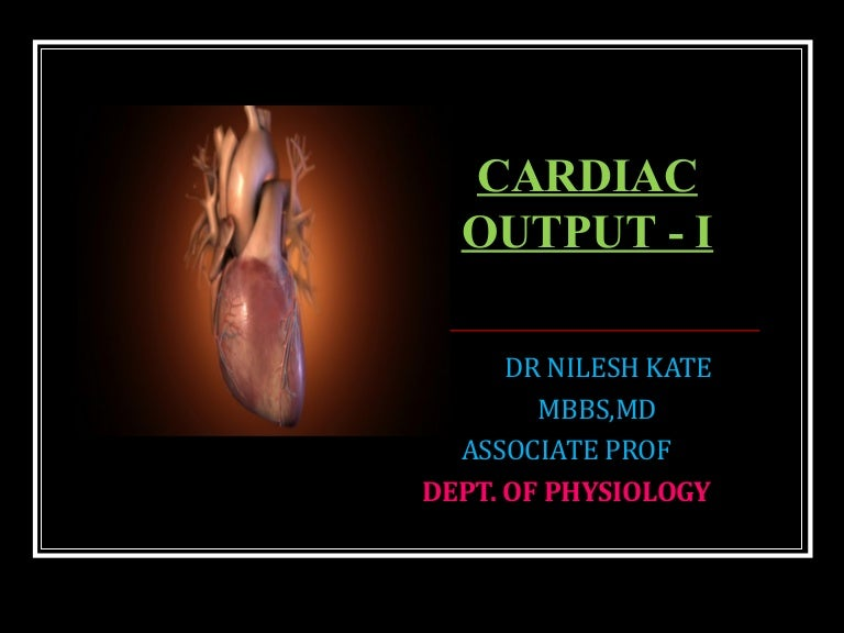 Cardiac output monitoring ppt video online download.
