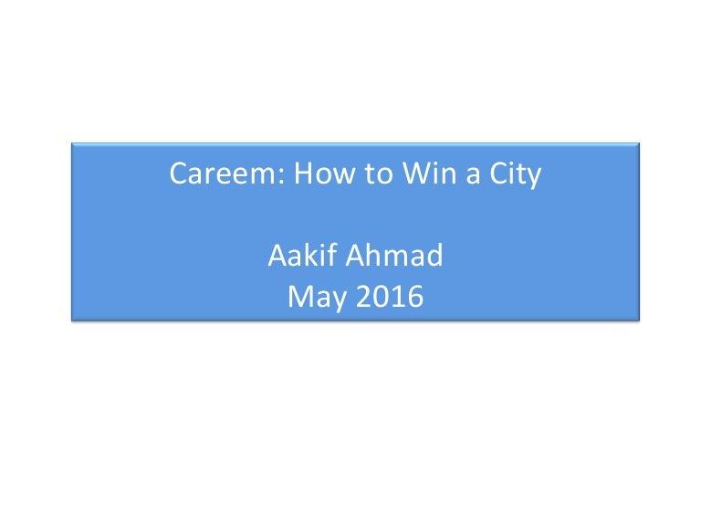 Careem Ride Share Presentation May 2016