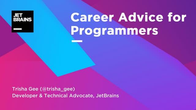 Career Advice for Programmers - ProgNET London