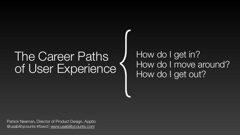 Career Paths Of User Experience